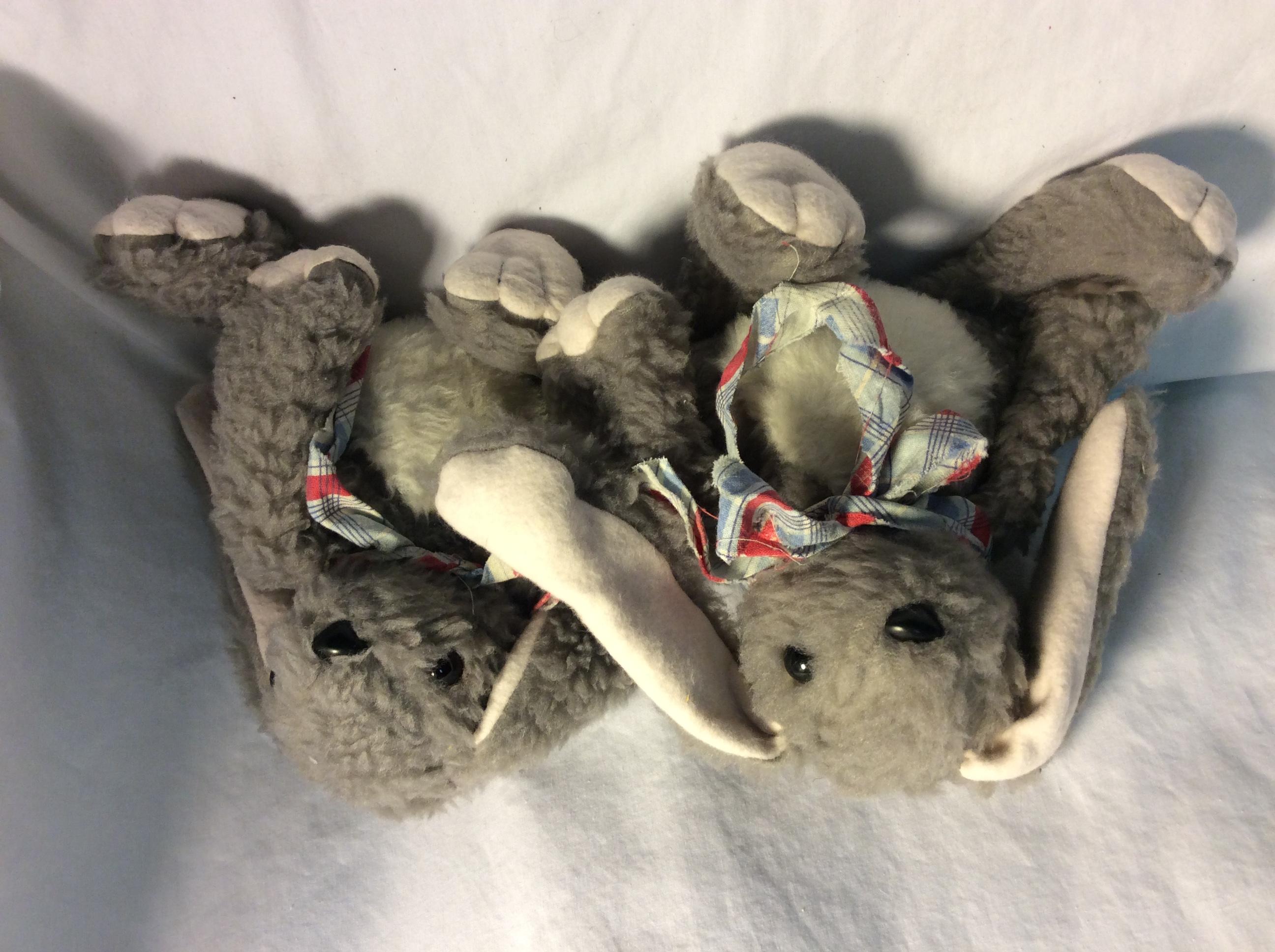 Generic grey & white stuffed bunny