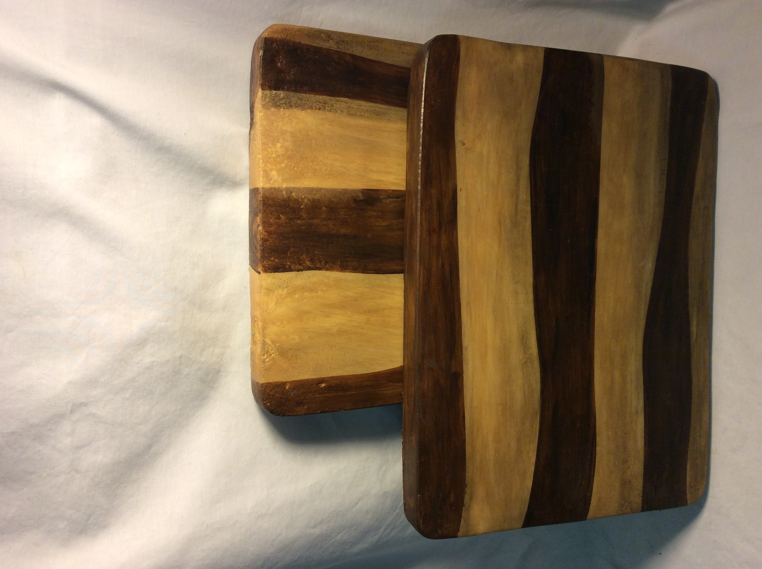 Fake wooden cutting board - 2 rubber