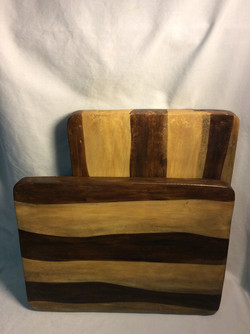 Fake wooden cutting board - 2 rubber