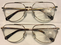 Ollie Quinn Gold frames with leapord