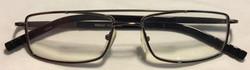 Silver metal frames, long black