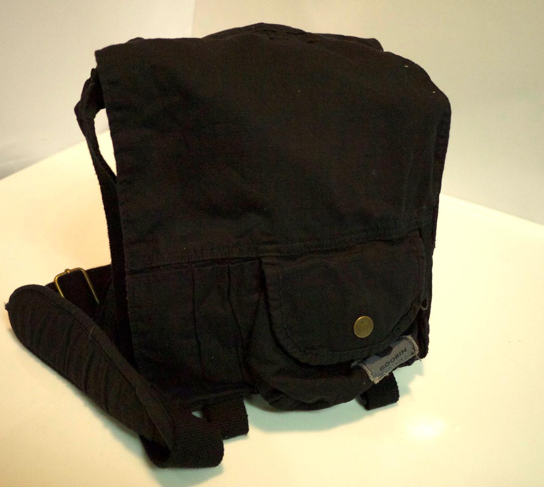Black cloth shoulder bag