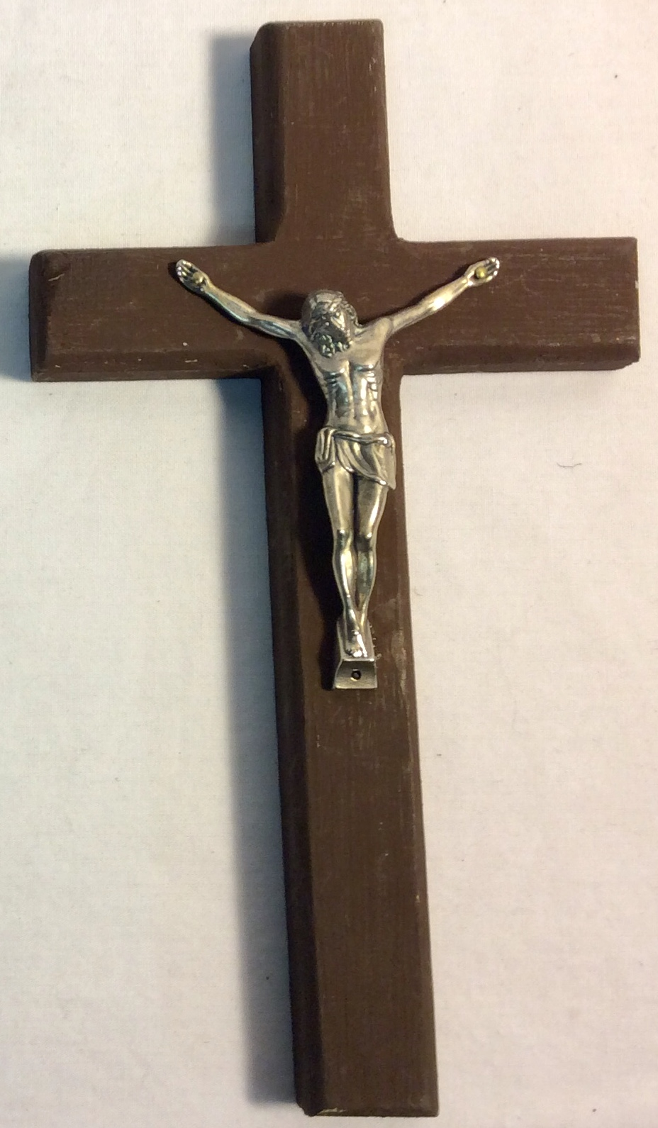 Wooden Crucifix with figure