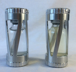 Lab safety locked medical bottles, small