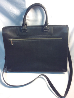 Black pleather purse
