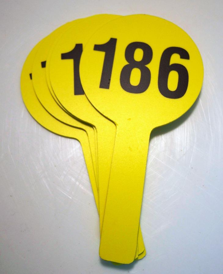 Auction Paddles