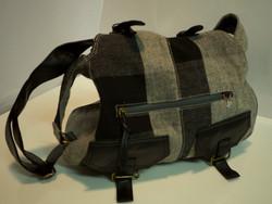Black/Gray wool & polyester bag