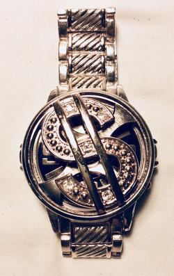 Dollar sign spinner watch