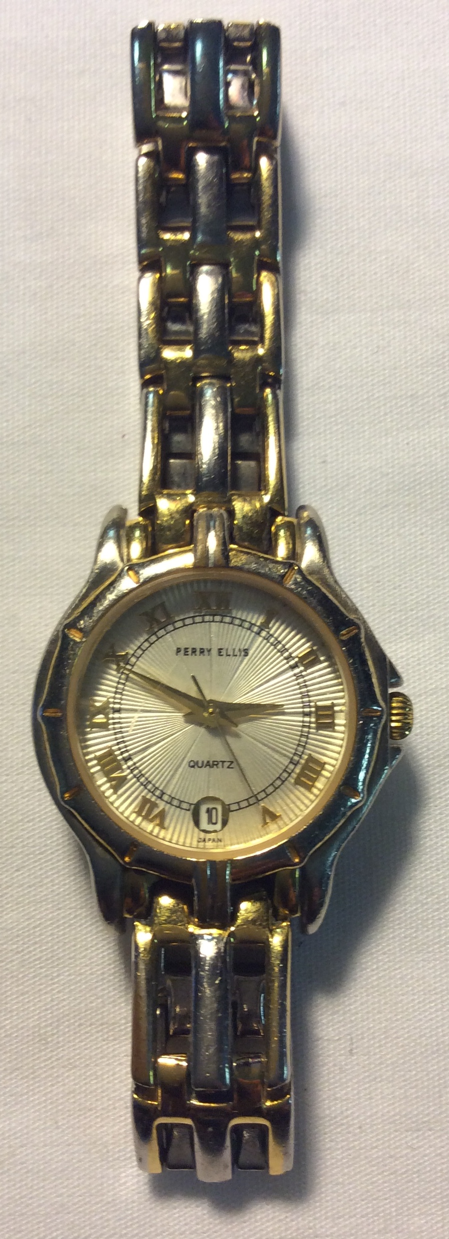 Perry Ellis watch - round pearl face