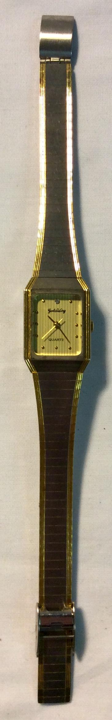 Gold Wing Quartz Gold face w diamond