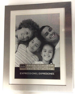 Silver metal picture frame