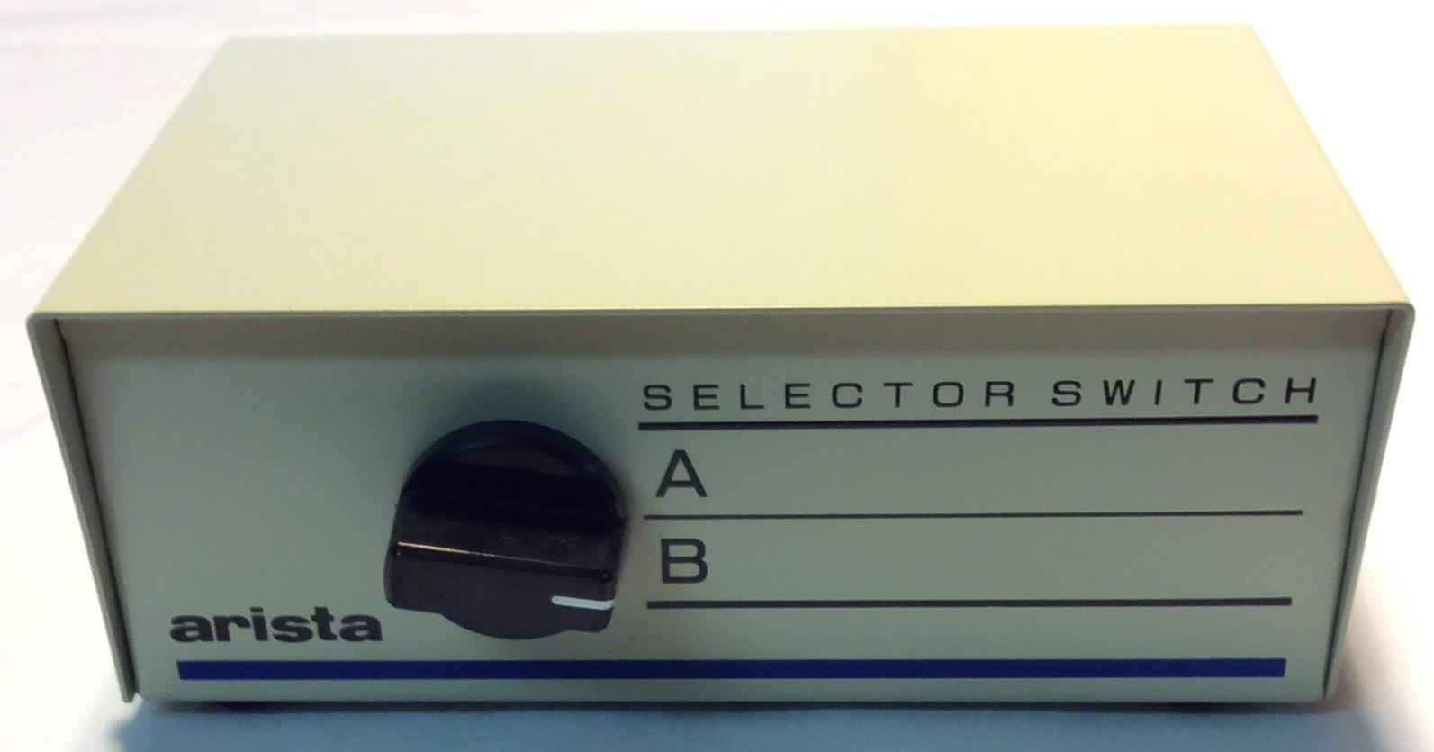 Arista Grey metal 2 channel selector