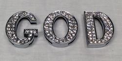 Bedazzled G.O.D. pendants