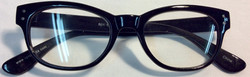 Woman black plastic frame with silver details