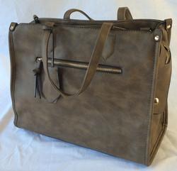 Brown pleather fancy handbag