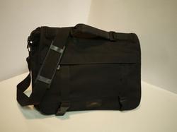 Black cotton laptop bag