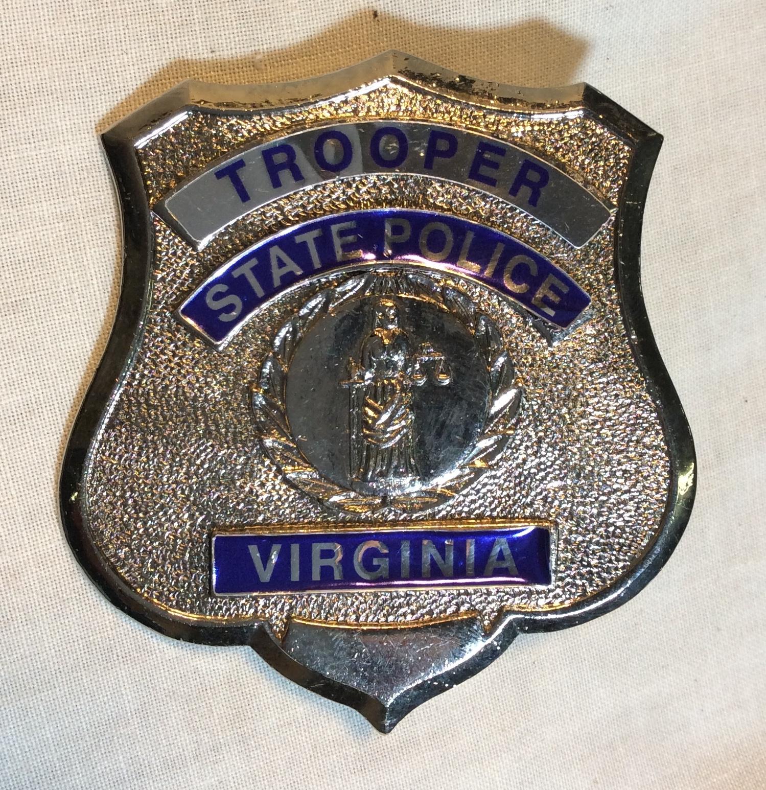 Virginia State Police Trooper Badge
