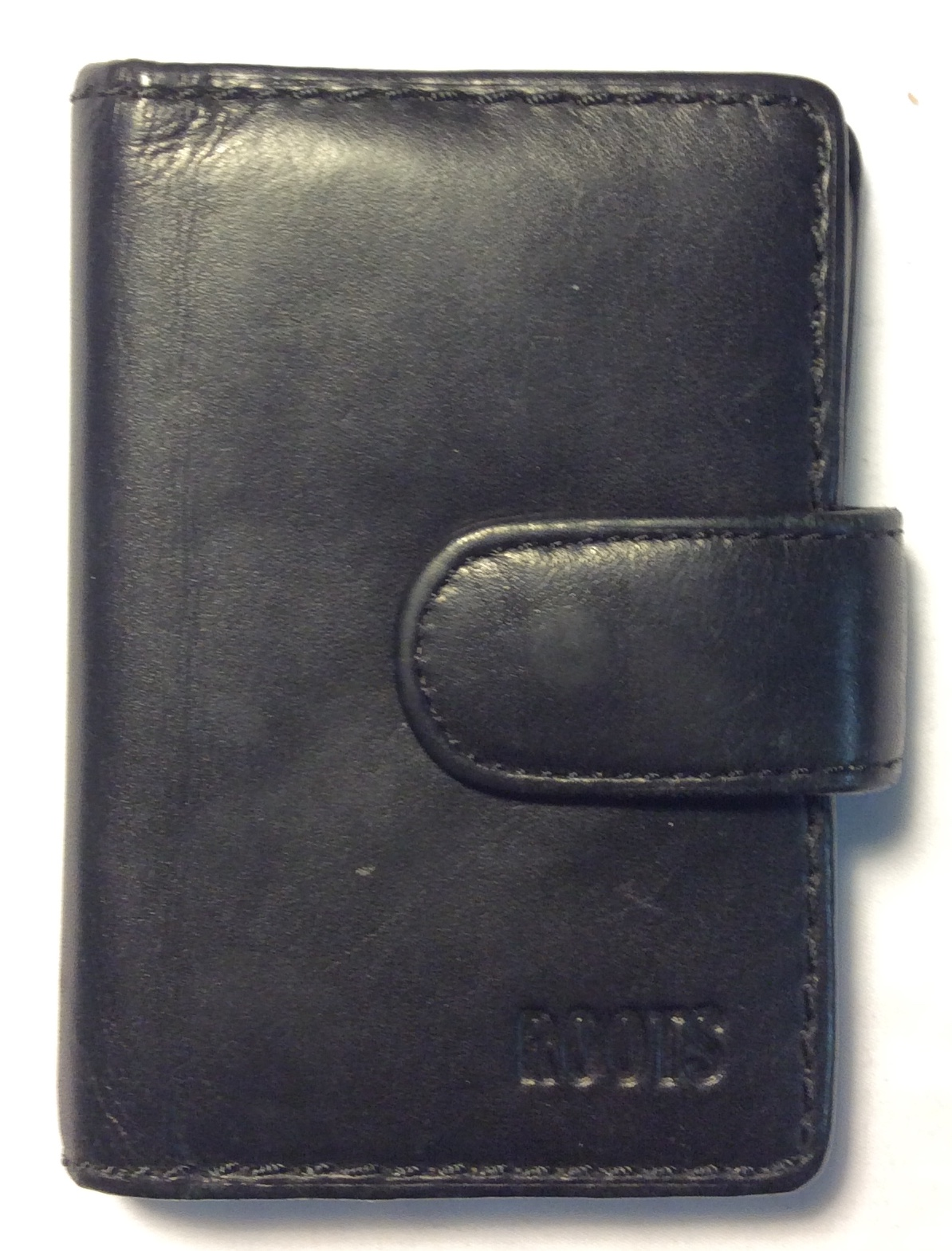 Roots Black leather card holder