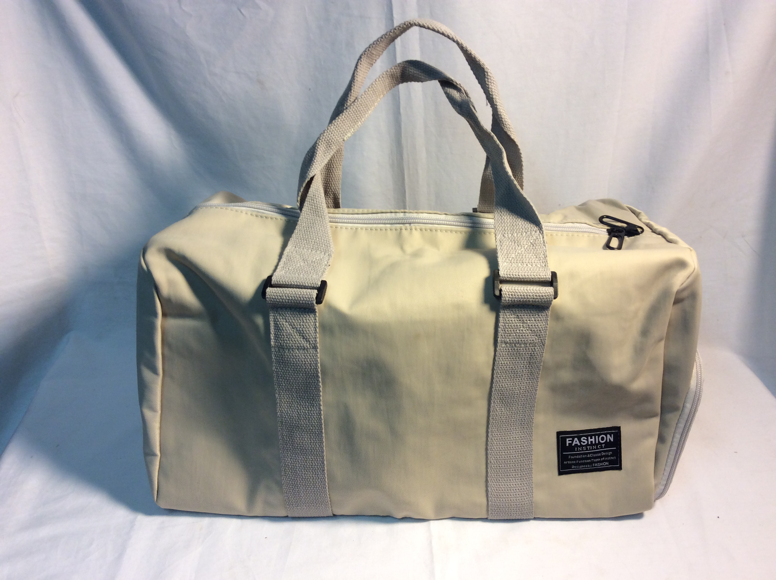 Cream Duffle bag, smaller size