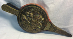 Vintage bellows with bronze farmers