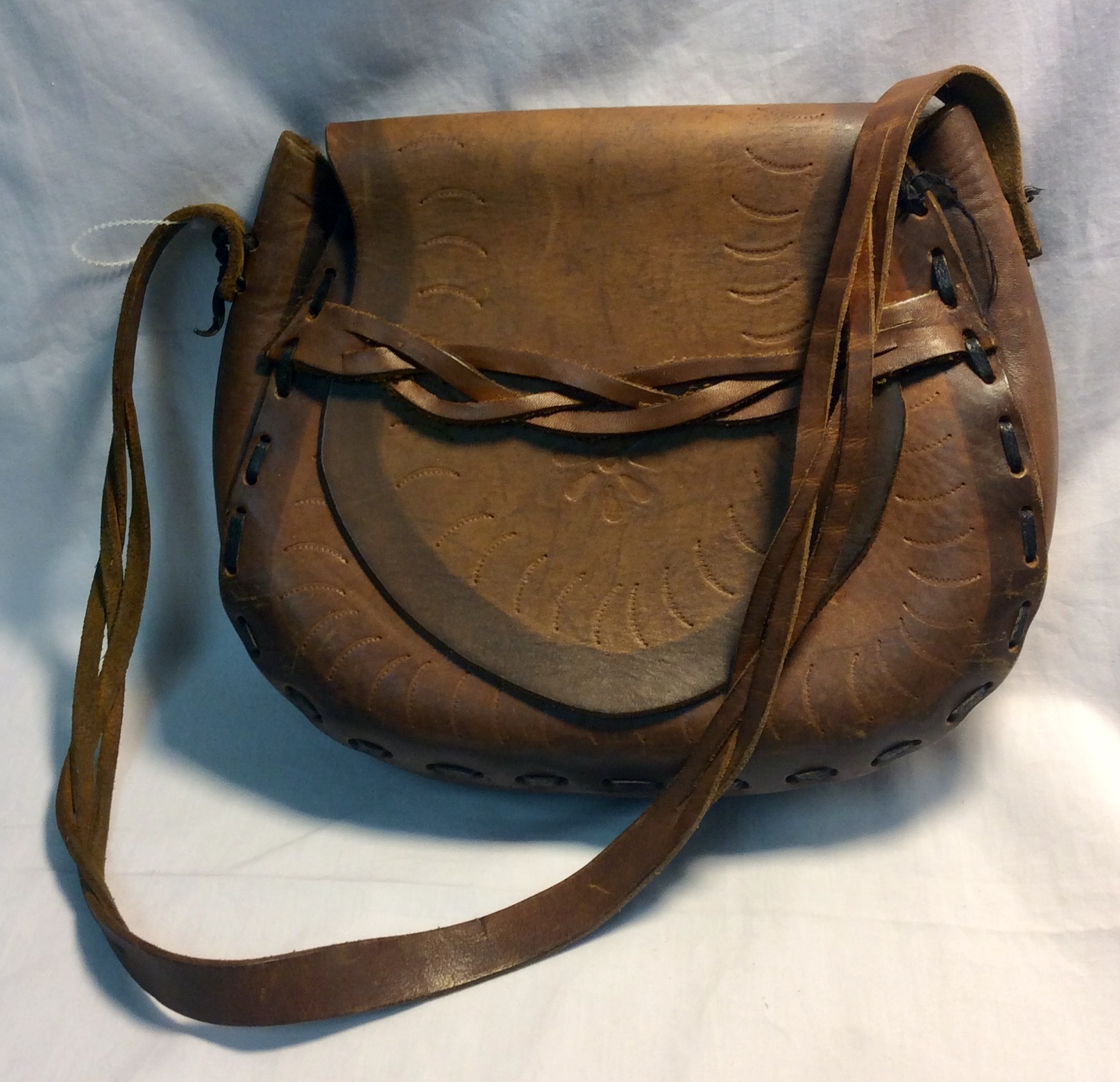 Small brown leather purse