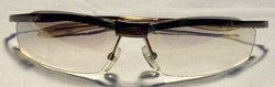 Thin silver metal frames, pointed