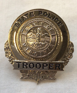 Silver Virginia State Police Trooper Pin