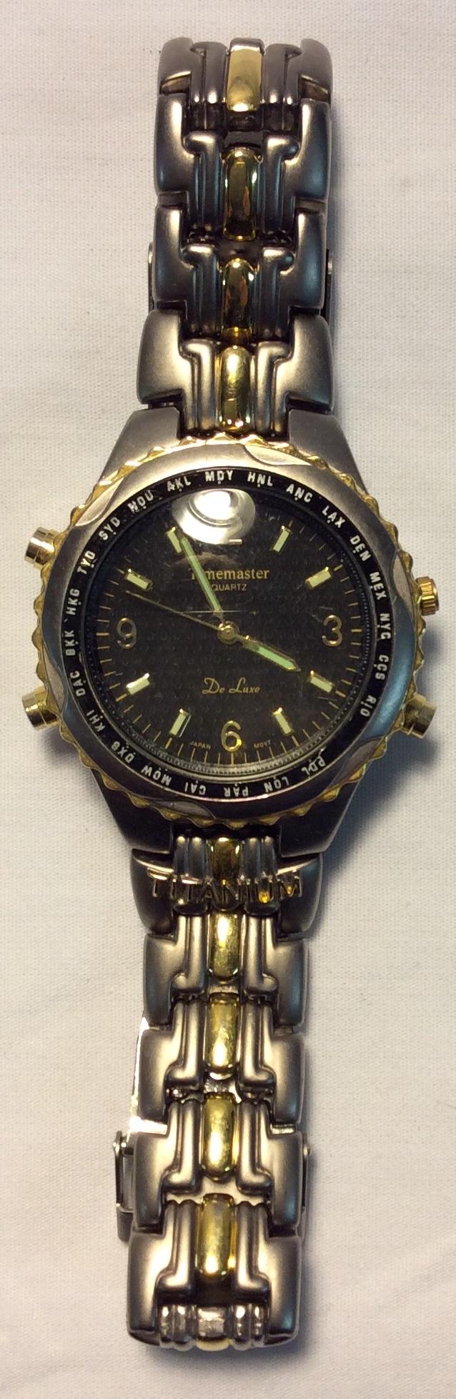Timemaster Quartz Textured black