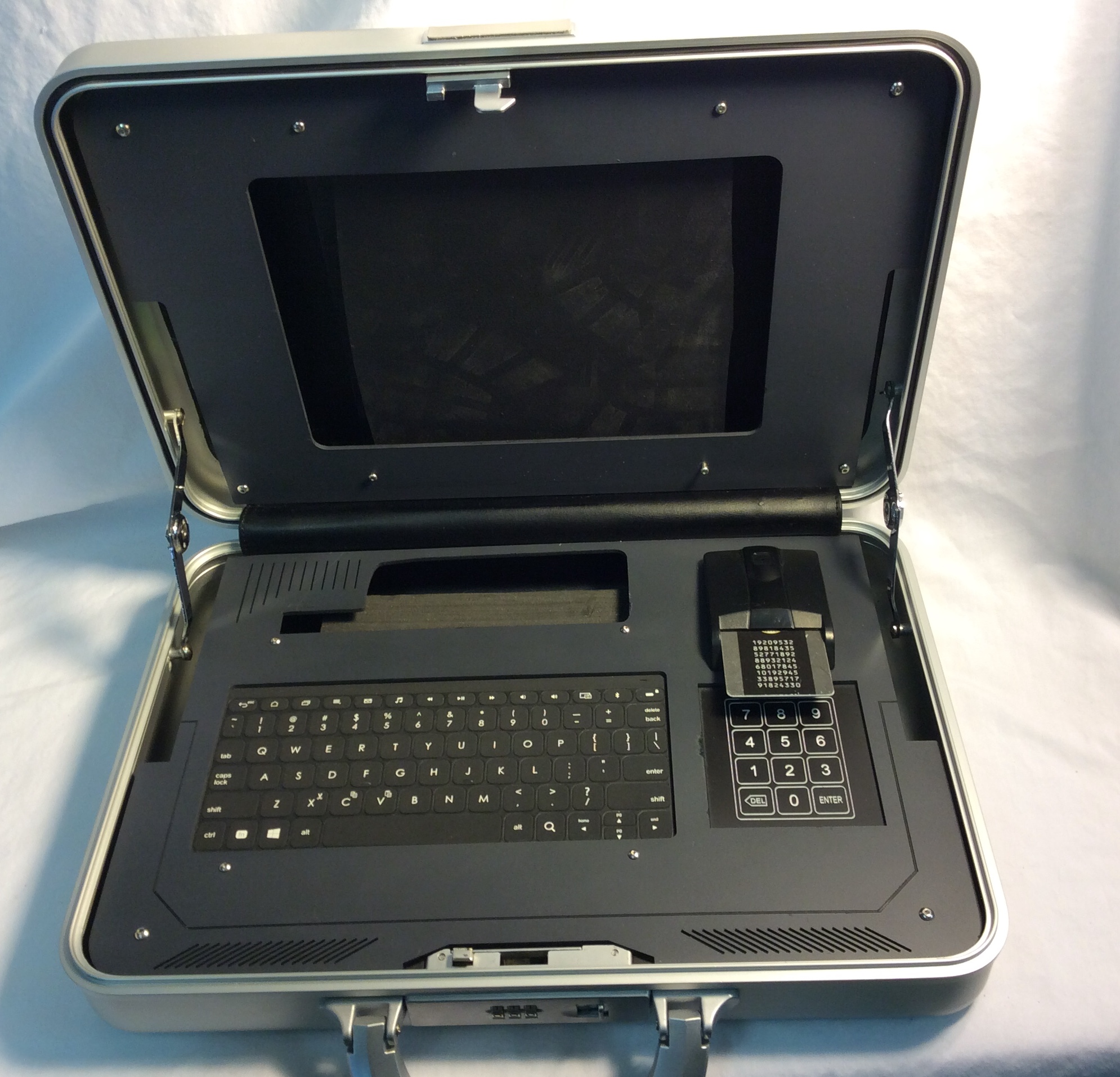 Custom built computer (for tablet) in silver security case