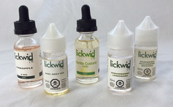 Lickwid vape juice capsules, multiple flavours, usable.