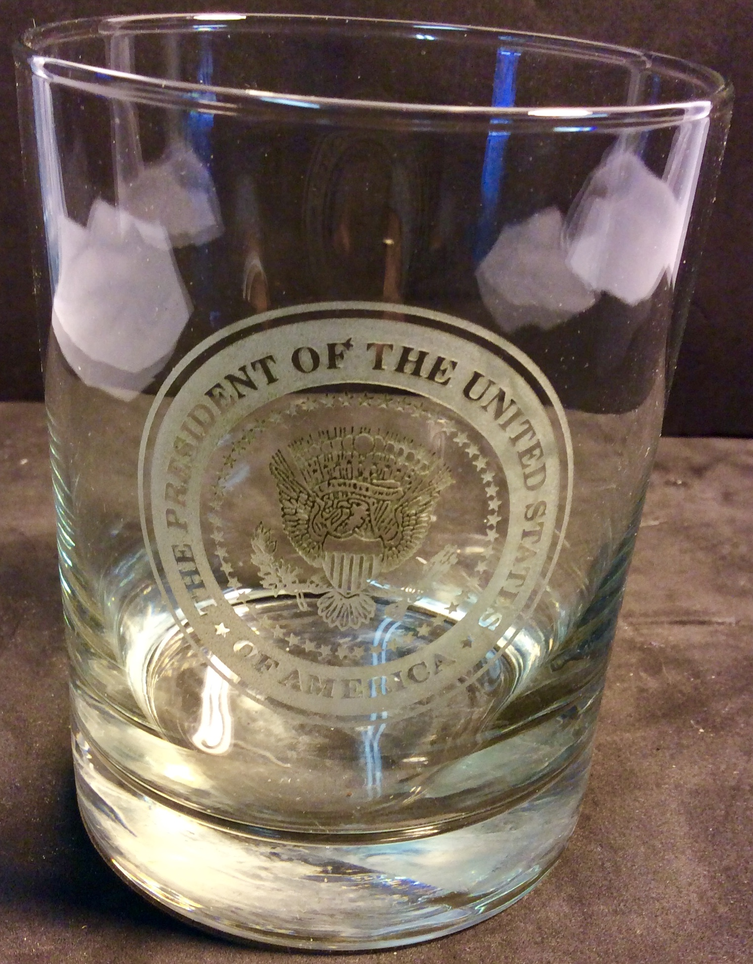 POTUS glass whiskey glasses