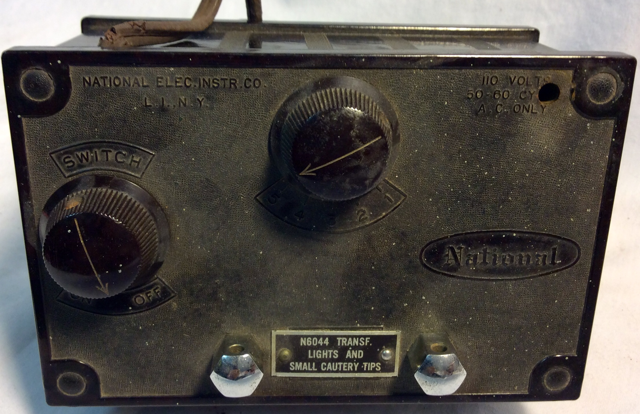 Antique National cautery control device