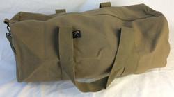 Olive military duffle bag