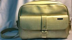 Samsonite Beige leather shoulder/laptop bag.