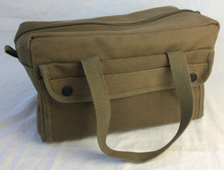 Olive military style utility bag
