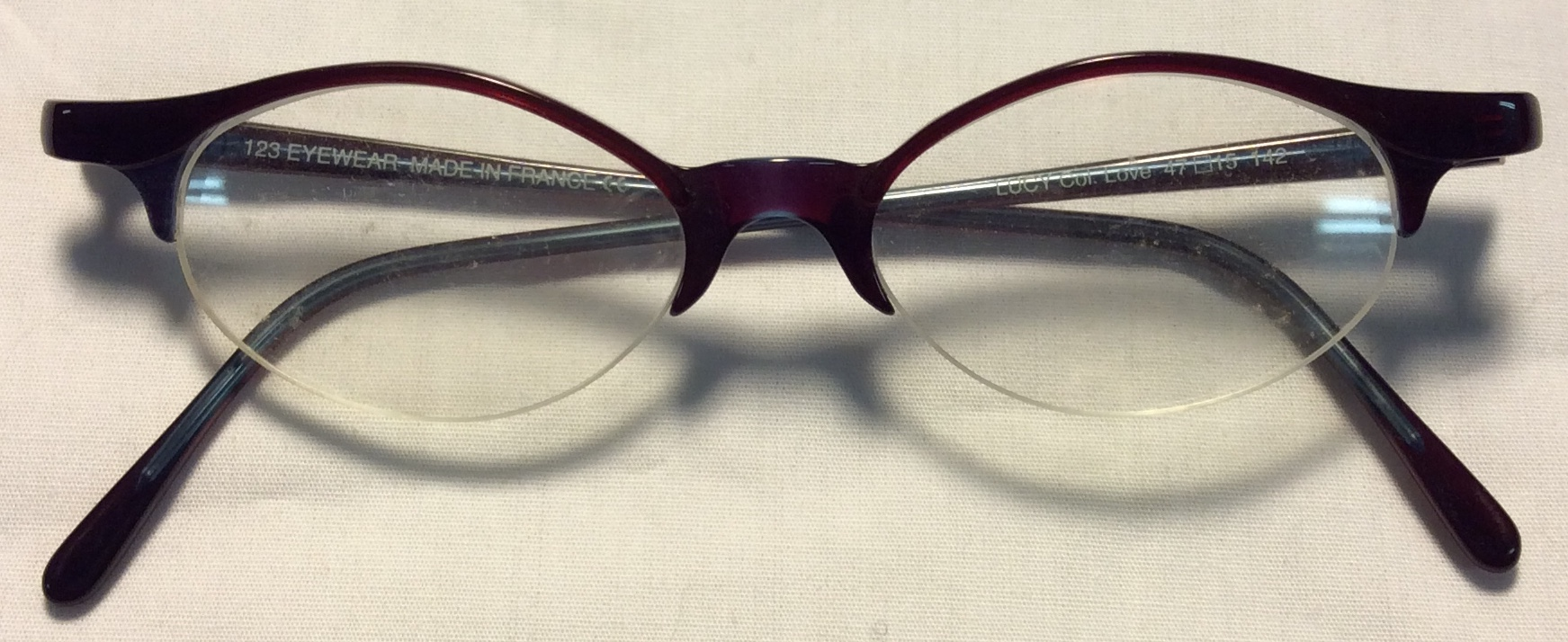 123 Eyewear Thin red/purple plastic