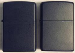 powder coated navy blue ZIPPO