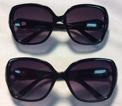 Thick black plastic frames