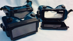 Welder goggles with dark and clear lenses