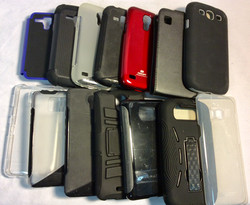 Assorted Samsung phone cases