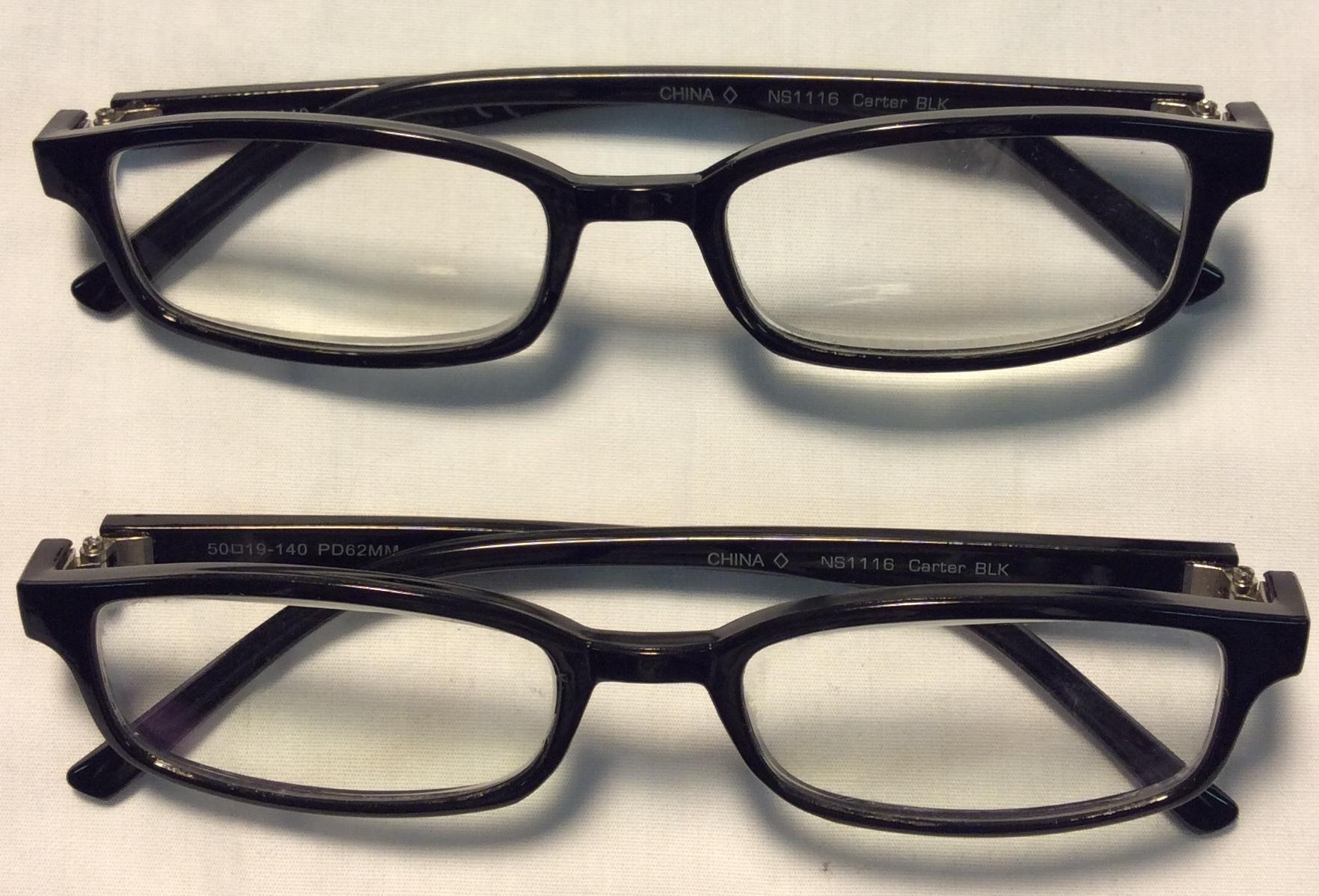 Carter BLK Black plastic frames
