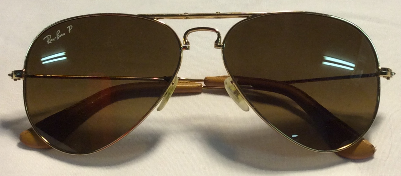 Ray-Ban Thin gold metal frames