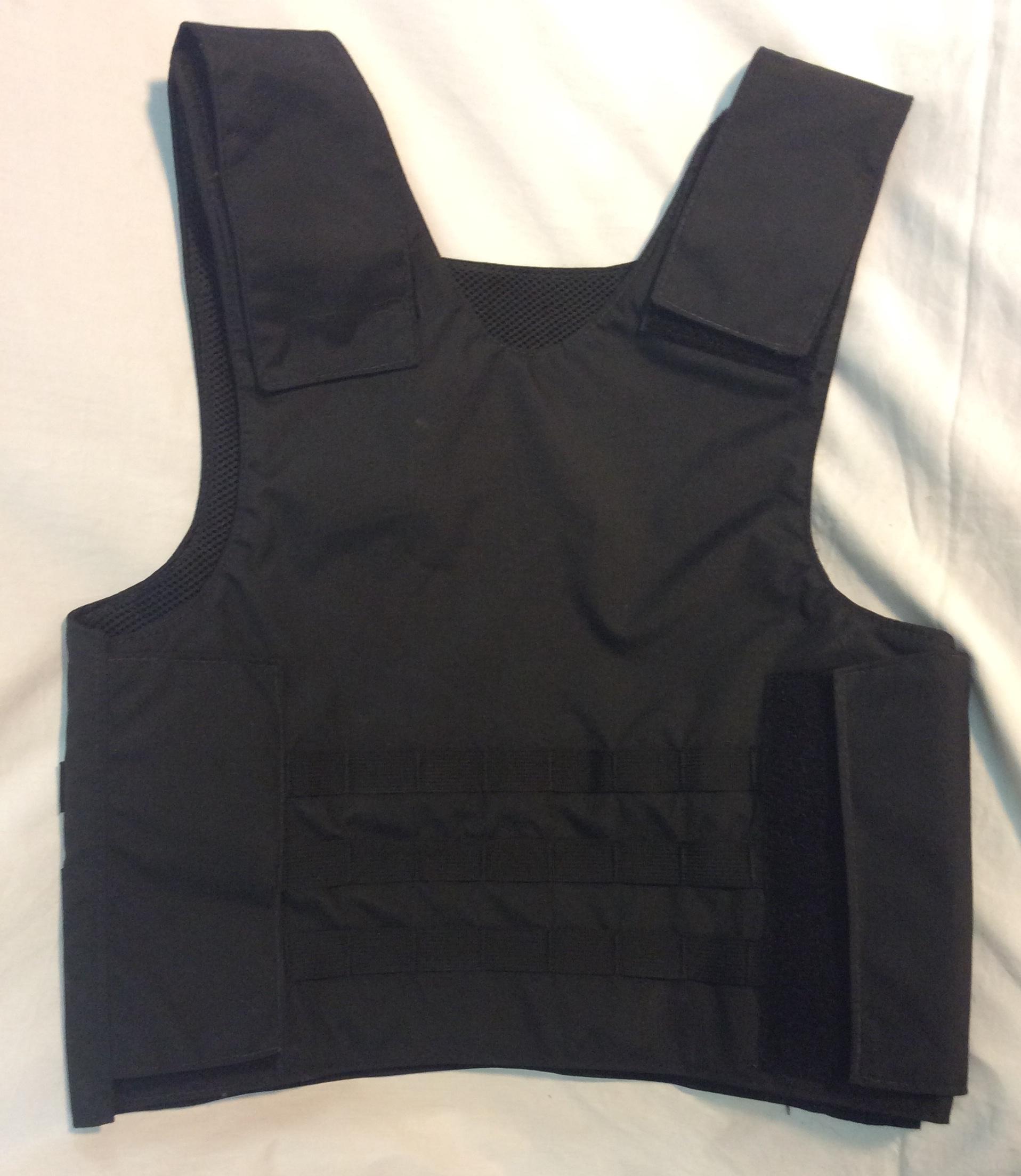 Black Flak vest with wide velcro