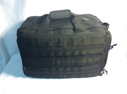 Black Nylon Hazard 4 tactical duffle bag with MOLLE webbing
