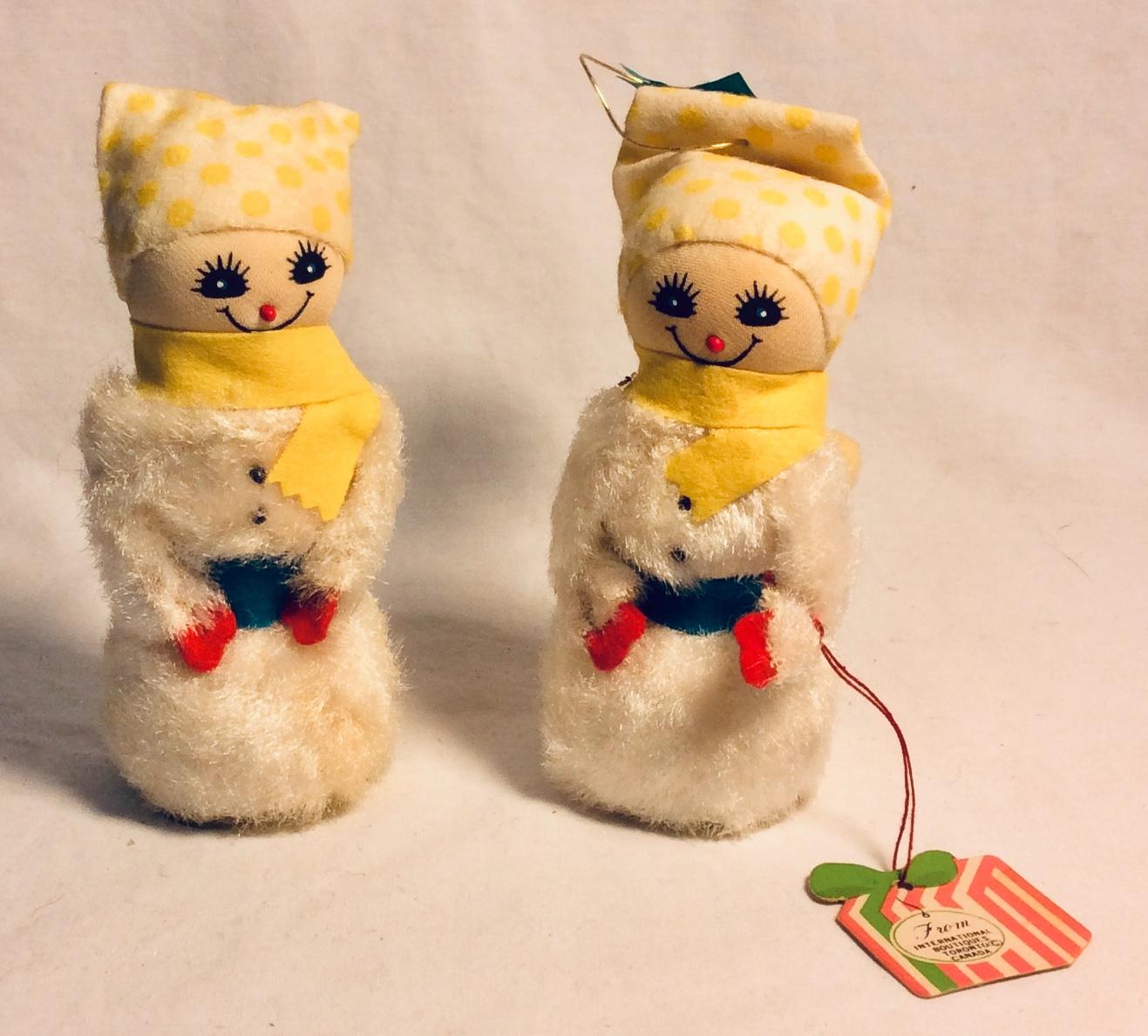 "5"" tall vintage lightweight foam core figurines"