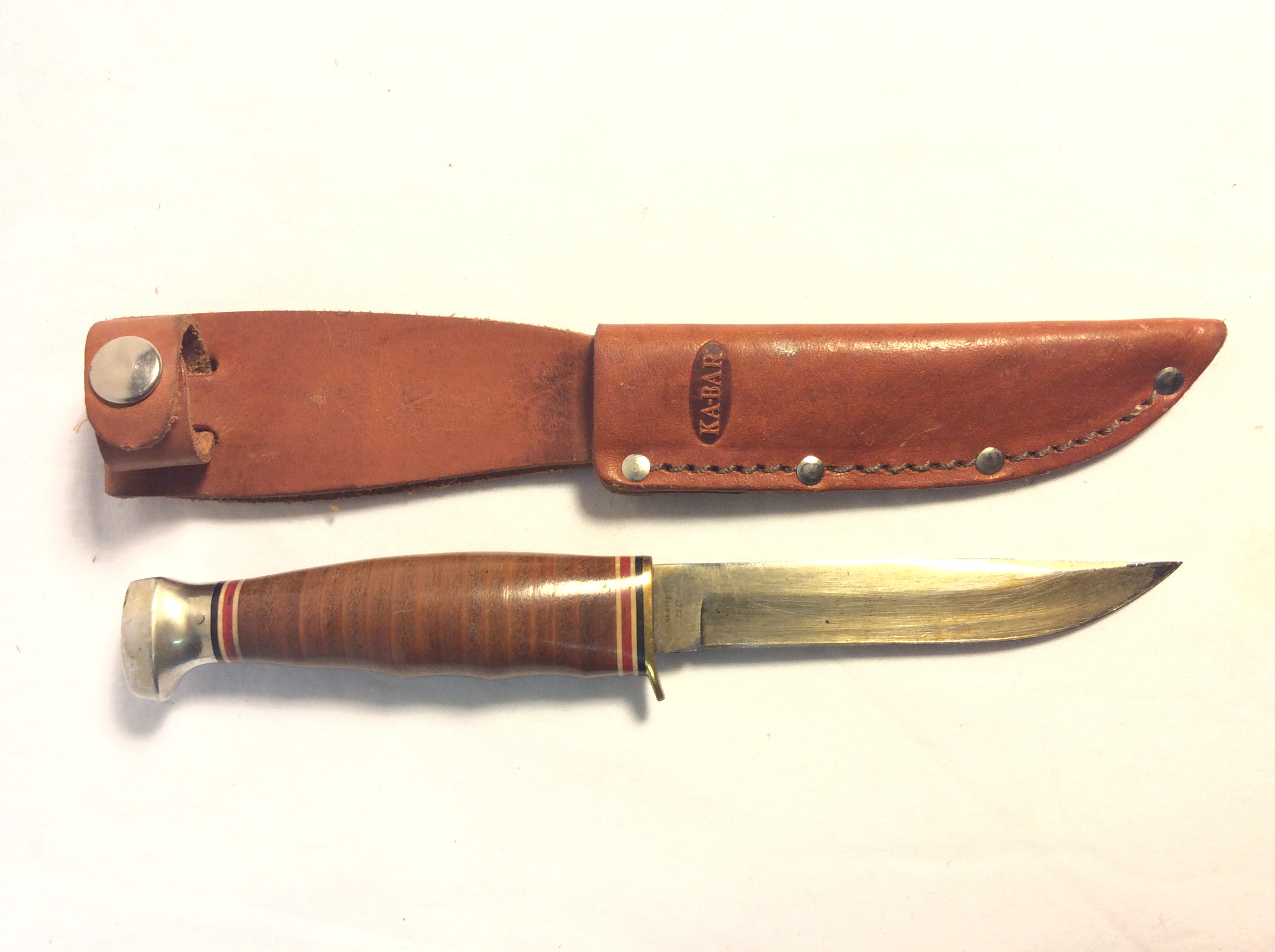 "Ka-bar knife with 4"" blade"