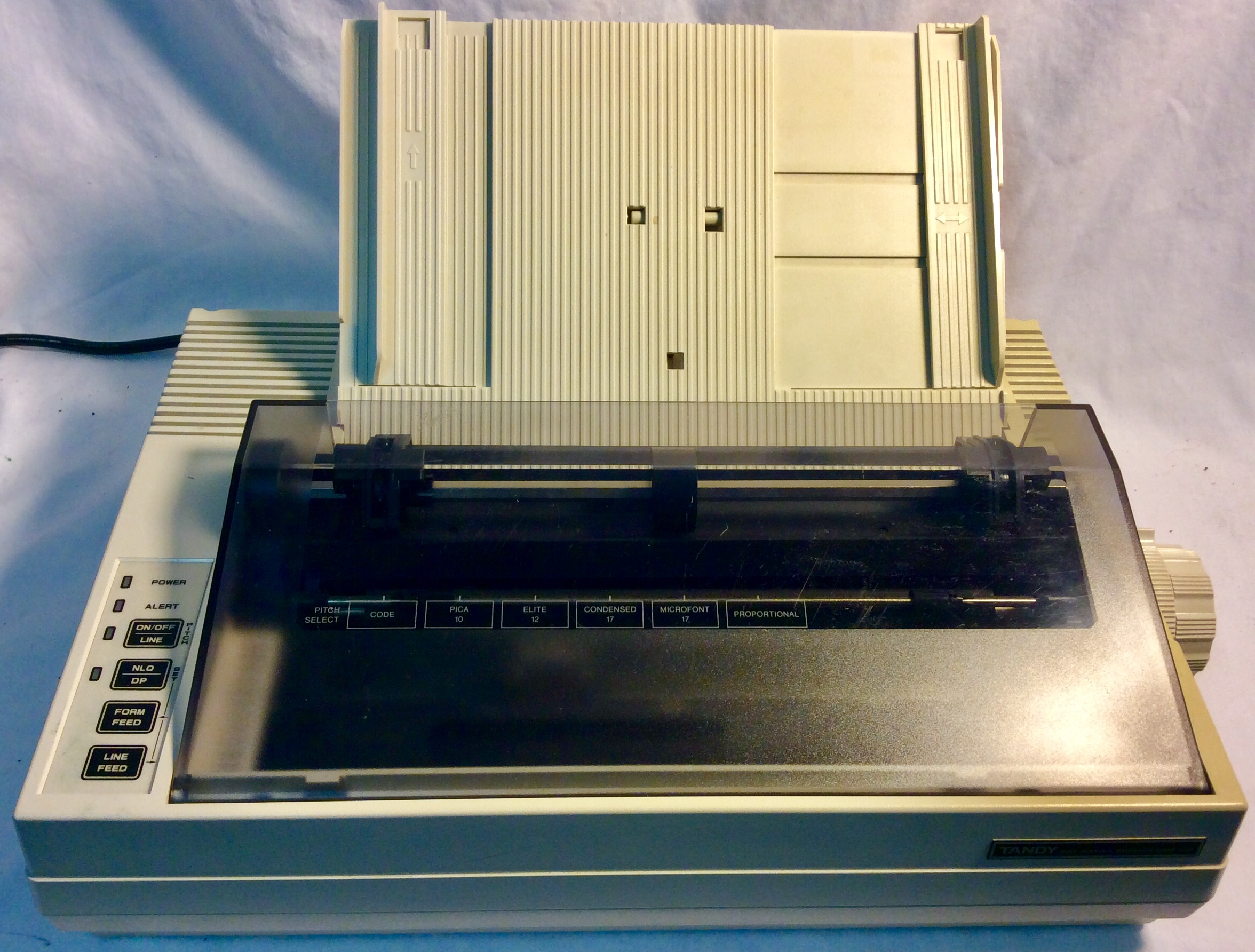 Antique printer Tandy dot matrix printer
