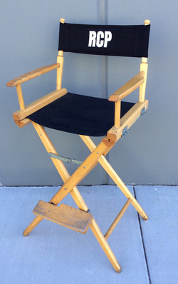 Tall wooden film set chair