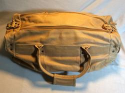 Tan leather travel bag