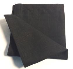 "Black square cloth napkins 12""x12"" - x20"